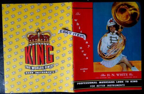 1949 original CATALOG H. N. White Company KING BAND INSTRUMENTS Cleveland OHIO