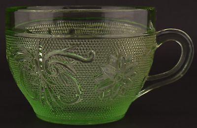 Tiara Flat Cup (Tiara Crystal Sandwich Light Green Flat Cup 2.625