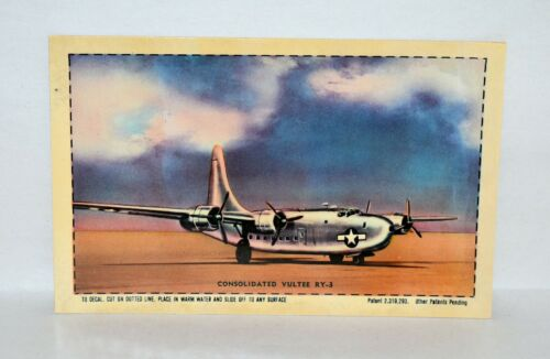 A9. DECALOMANIA: TRANSFER PICTURE POSTCARD / DECAL CONSOLIDATED VULTEE VALIANT