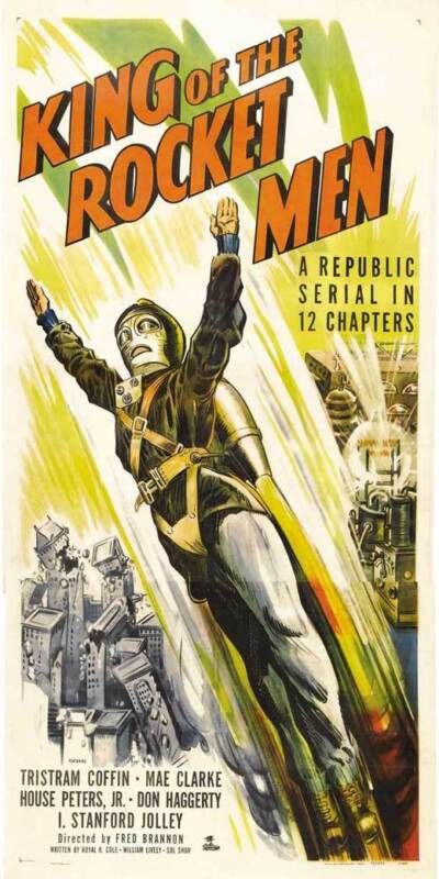 KING OF THE ROCKET MEN Movie POSTER 20x40 Tristram Coffin Mae Clarke I. Stanford
