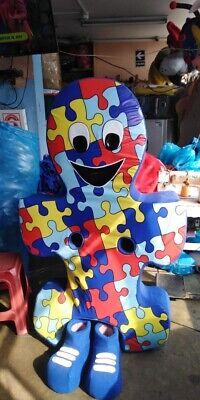 Puzzle Stück Autismus Maskottchen Kostüm Party Charakter Kinder Geburtstag (Kind Maskottchen Kostüme)