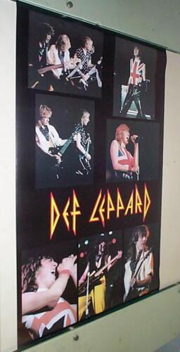 DEF LEPPARD 80s Vintage Live Collage POSTER