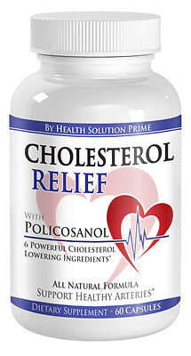 Policosanol with Gugulipid Cholesterol Lowering Supplement (60 Caps. 1 Bottle)