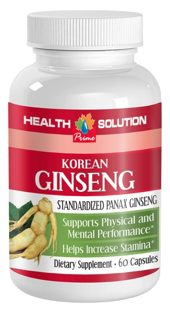 korean ginseng 350mg stress reducer energizer health