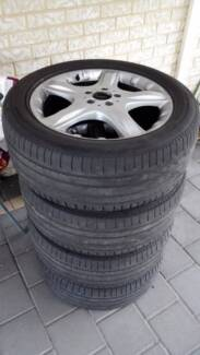 4 x 19 in Mercedes wheels and tyres 255/50/R19 fits R ML class Madeley Wanneroo Area Preview