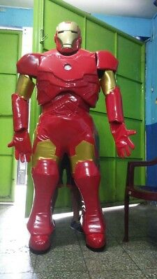Ironman Avengers Superhero Mascot Costume Party Character Birthday Halloween Red