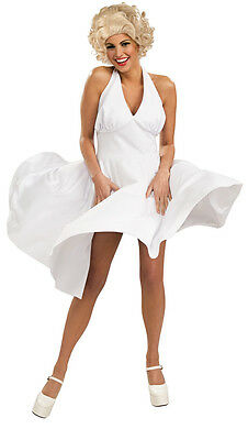 Marilyn Monroe White Hollywood Starlet Fancy Dress Halloween - Fancy Dress Marilyn Monroe