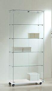 Vetrina espositiva commerciale grande alta vetro cristallo ...