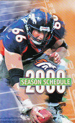 2000 DENVER BRONCOS FOOTBALL POCKET SCHEDULE