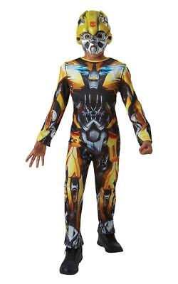 BOYS YELLOW BUMBLE BEE TRANSFORMER FILM JUMPSUIT COSTUME KIDS PARTY FANCY DRESS  ()