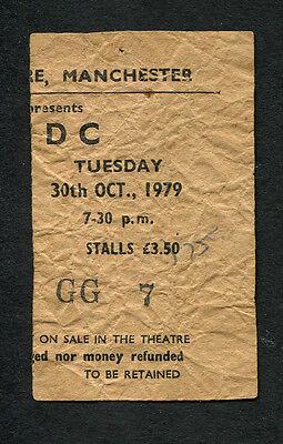 1979 AC/DC Def Leppard Concert Ticket Stub Bon Scott Manchester Highway To Hell