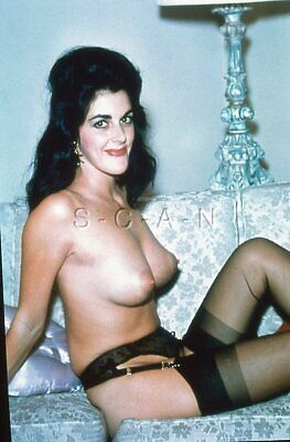 Vintage Nude 1950s-60s 35mm Slide / Negative- Well Endowed- Stockings- Garter