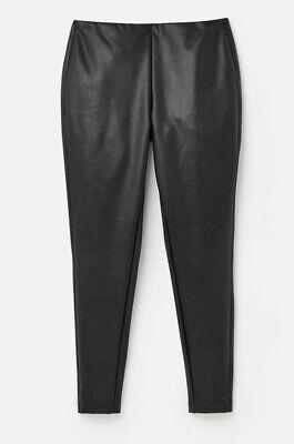 Joules Dakota Faux Leather Trousers Leggings True Black 20 BNWT PERFECT GIFT