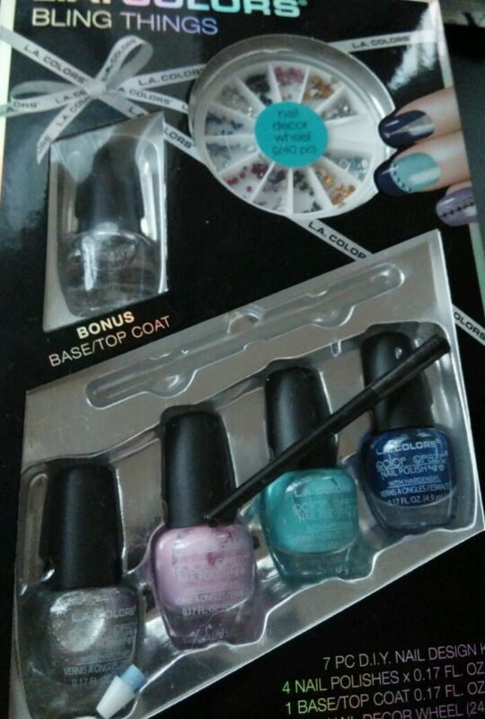 L.A. Colors Bling Things Gift Set, New in Box, Complete Nail Kit. New in Box