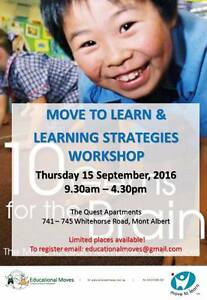 Move to Learn/Learning Strategies Workshop Burwood Whitehorse Area Preview