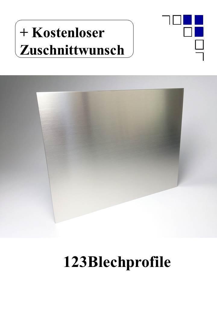 Edelstahlblech 1mm 1,5mm 2mm 3mm gebürstet 1.4301 V2A Zuschnitte Platte VA Blech