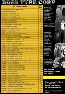 **** January 2017 Truck Tyre Specials **** Brisbane City Brisbane North West Preview