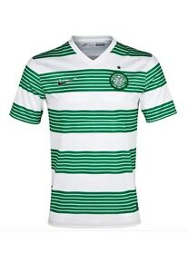 Nike-camiseta-celtic-glasgow-FC-2014-2015-verde-blanco-Home-Kit-size-XBL-maillot