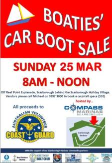 BOATIES CAR BOOT SALE SCARBOROUGH QLD