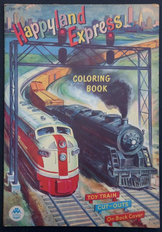 """UNCUT/UNCOLORED """"Happyland Express"""" #1596 Merrill 1951 (4610)"""