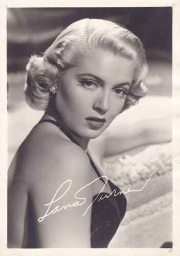 LANA TURNER Blonde Bombshell Original Vintage 1942 MGM Studio DBW Portrait Photo