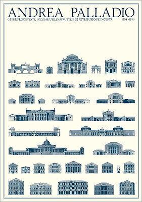 Andrea Palladio Geplante und unvollendete Bauten Poster Kunstdruck Bild 59x84cm