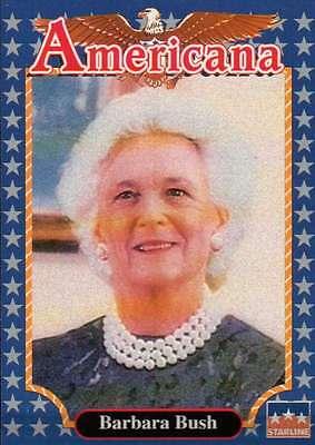 First Lady Barbara Bush    Historic Americana Trading Card     Not Postcard