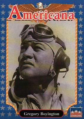 Gregory Boyington, Pilot --- Historic Americana Trading Card --- NOT Postcard segunda mano  Embacar hacia Mexico