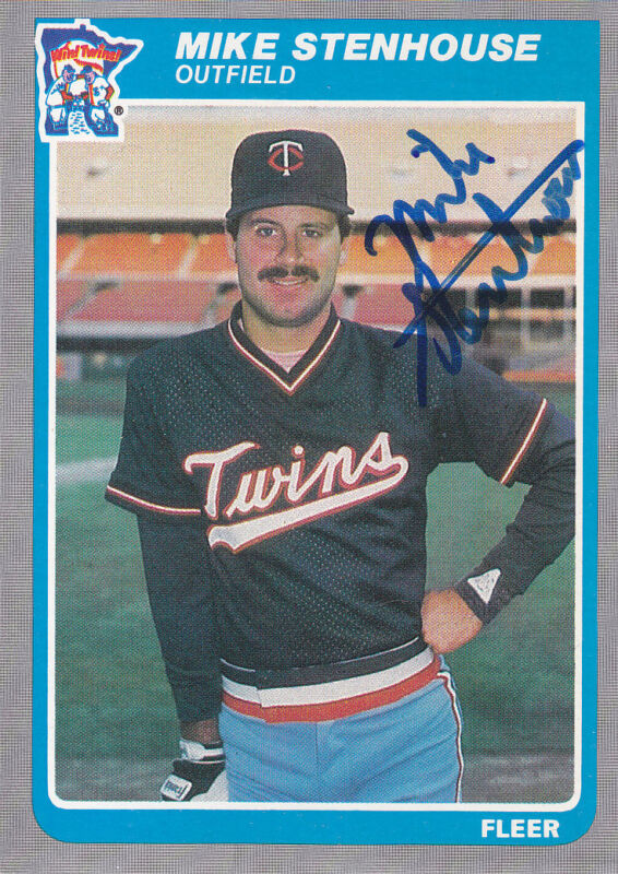 1985 Fleer Update #U-110 Mike Stenhouse Autograph - Signed  Twins