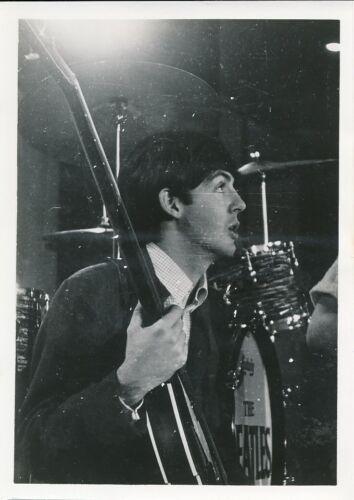 PAUL McCARTNEY THE BEATLES Vintage 1960s CANDID Ed Sullivan Show Rehearsal Photo