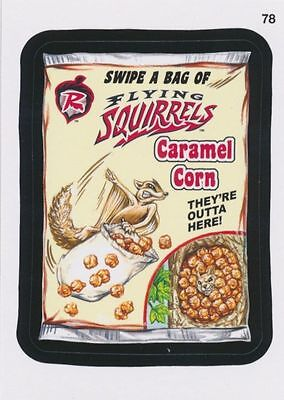 2016 TOPPS WACKY PACKAGES MLB - RICHMOND FLYING SQUIRRELS CARAMEL CORN - (Flying Packages)