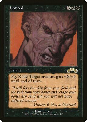 Hatred Exodus MINT Black Rare Reserved List MAGIC THE GATHERING CARD ABUGames