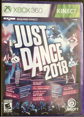Just Dance 2018 (Microsoft Xbox 360, 2017) Factory Sealed!