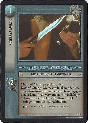 CCG 130 LORD OF THE RINGS HOBBIT REFLECTIONS FOIL 9R18 MERRYS DOLCH