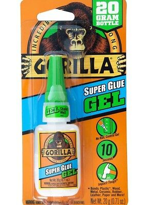 Gorilla Super Glue Gel 20 G Clear Adhesive For Metal Plastic Paper Glass Shoe