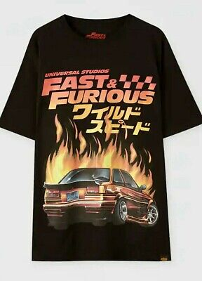 NEW Rare Mens Limited Edition Official Fast & Furious Pull & Bear...