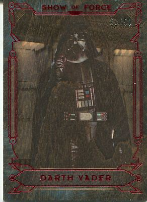 Star Wars Masterwork 2016 Show Of Force Wood Chase Card SF-2