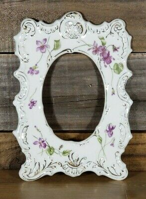 T&V (Tressemann & Vogt) Limoges Porcelain Frame Hand Painted Purple Flowers  for sale  Avon Park