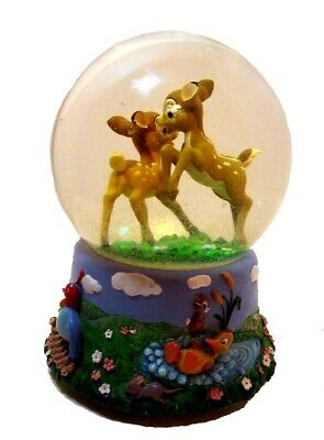 "Disney Enesco Bambi ""Waltz of the Flowers"" Musical Snowglobe Glitter Waterglobe"
