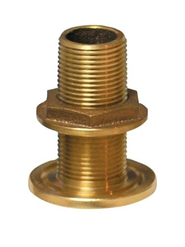 """Groco TH-500-W 1/2"""" NPS NPT Combo Bronze Thru Hull with Nut Free Shipping"""