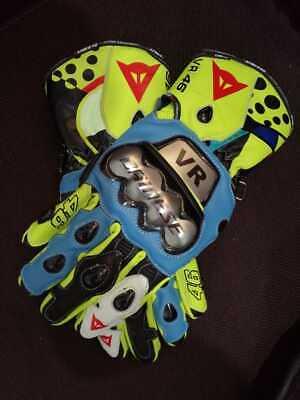 Valentino Rossi 2021 Motogp VR46 Motorbike Racing Leather Gloves