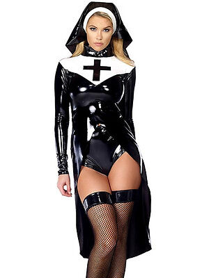Sexy Nonne Vinyl Polyester Party Cosplay Outfit