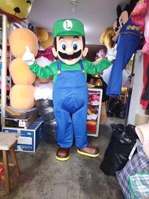 Luigi Mario Bros Mascot Costume Party Character Birthday Halloween Cosplay - Mario Bros Characters Costumes