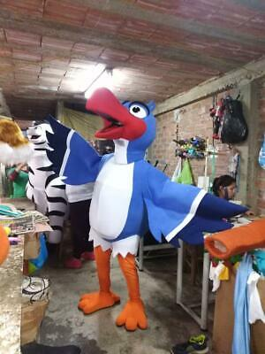 Zazu of The Lion King Character Costume Mascot Bird Cosplay Blue, White