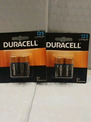 4 count Duracell 123 Lithium 3V Batteries