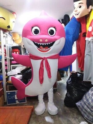 Character Halloween Costumes For Babies (For Rent Mommy Baby Shark Pink Mascot Costume Party Character Birthday)