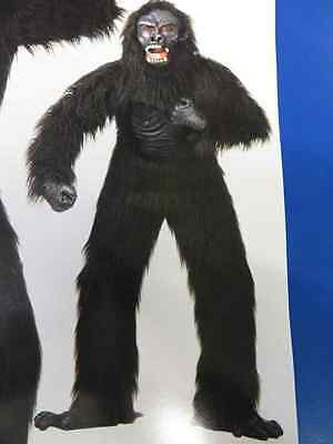 Gorilla Kong Mean Scary Ape Animal Fancy Dress Halloween Deluxe Adult Costume (Scary Gorilla Costume)