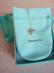 authentic tiffany co heart necklace