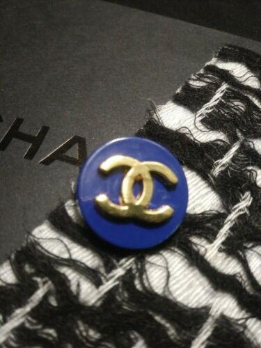 Chanel Blue Gold Button Replacement Sewing Accessories - TWO