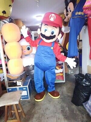 Mario Bros Mascot Costume Party Character Birthday Halloween Cosplay Video Game - Mario Bros Characters Costumes